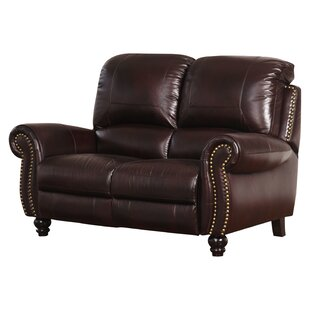 Tanguay Leather Reclining Loveseat