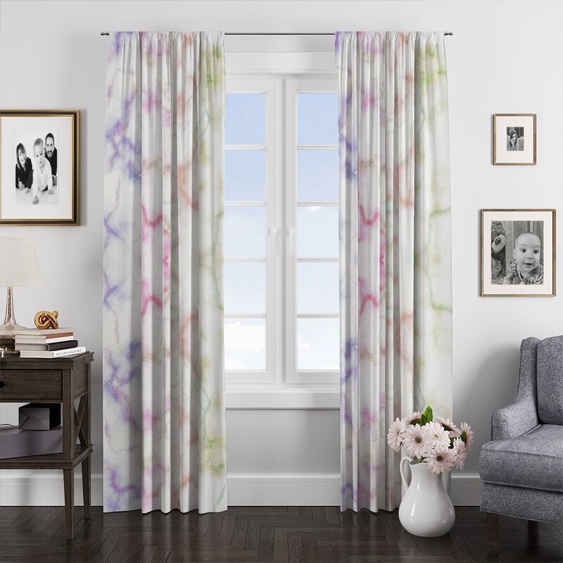 Modern window treatments Curtain panels Contrast irises Floral Curtains Green Purple Window curtains for bedroom kitchen living room