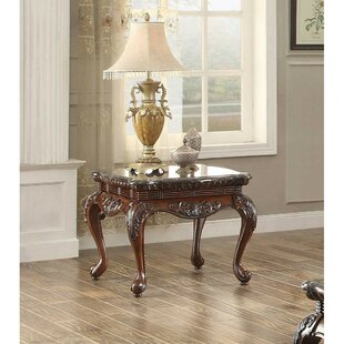 Online Reviews Brooklandville Engraved End Table by Astoria Grand