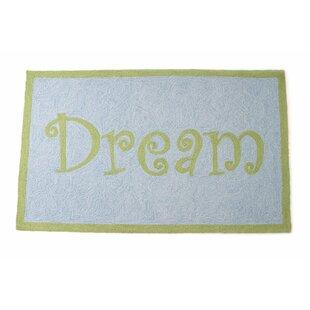 Dream Hand Hooked Wool Blue/Green Area Rug ByThe Little Acorn