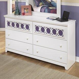 Inexpensive Benjamin 6 Drawer Double Dresser ByViv + Rae