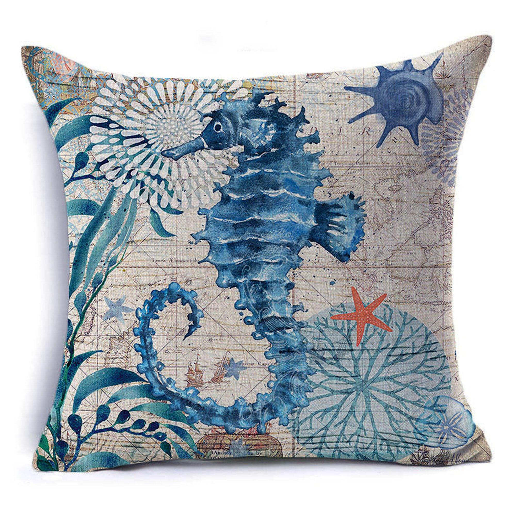 Breakwater Bay Siegrist Seahorse Cotton Throw Pillow Reviews Wayfair