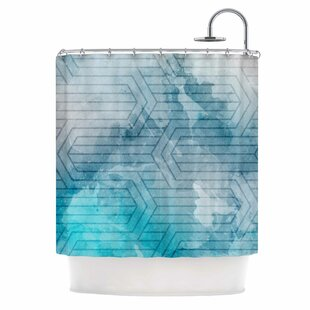 'Frost Labyrinth' Single Shower Curtain