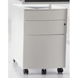 Zolan 3 Drawer Mobile Filing Cabinet by Comm Office