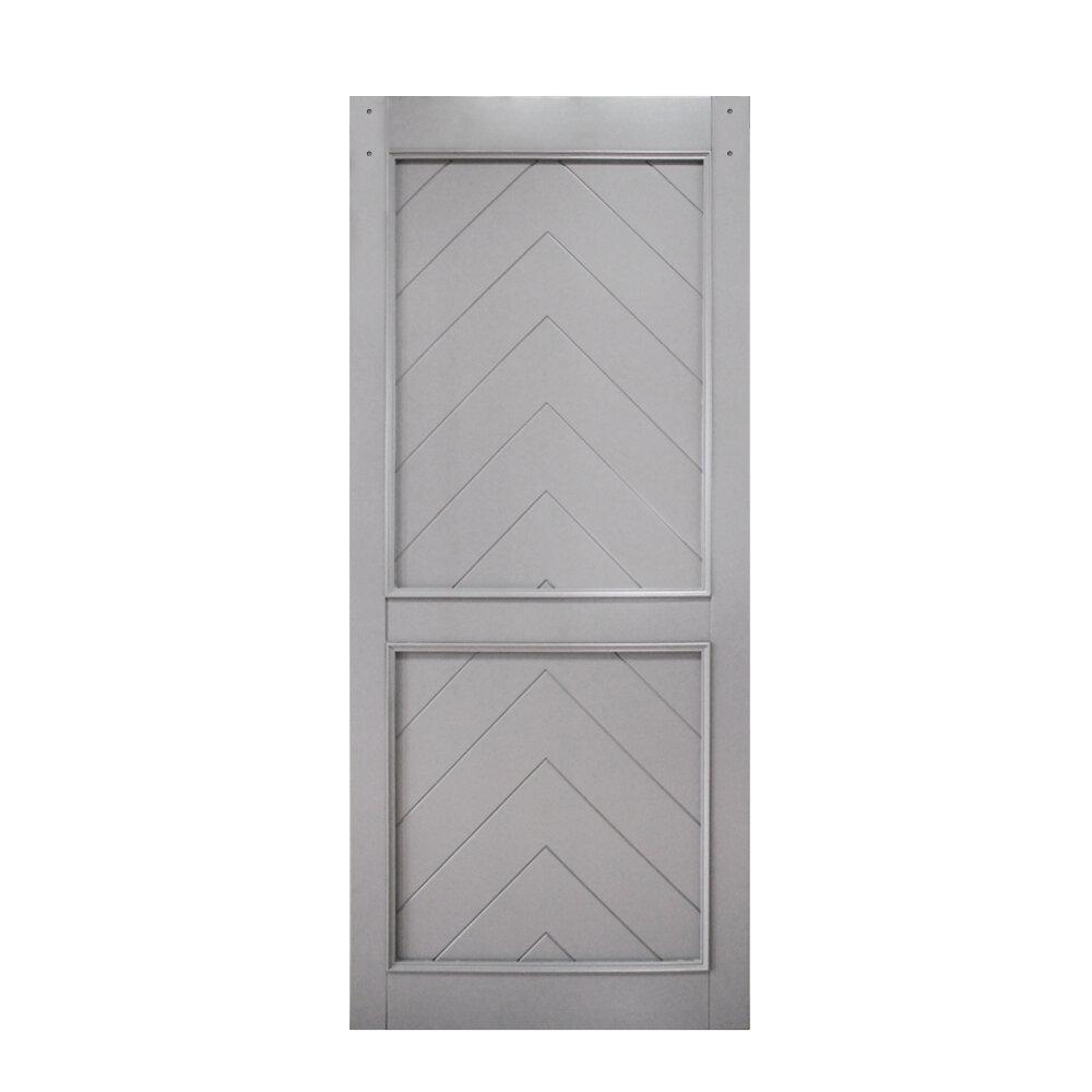 Renin Paneled Manufactured Wood Gatsby Barn Door Without Installation Hardware Kit Wayfair