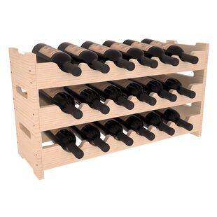 Karnes Pine Mini Scalloped 18 Bottle Tabletop Wine Rack