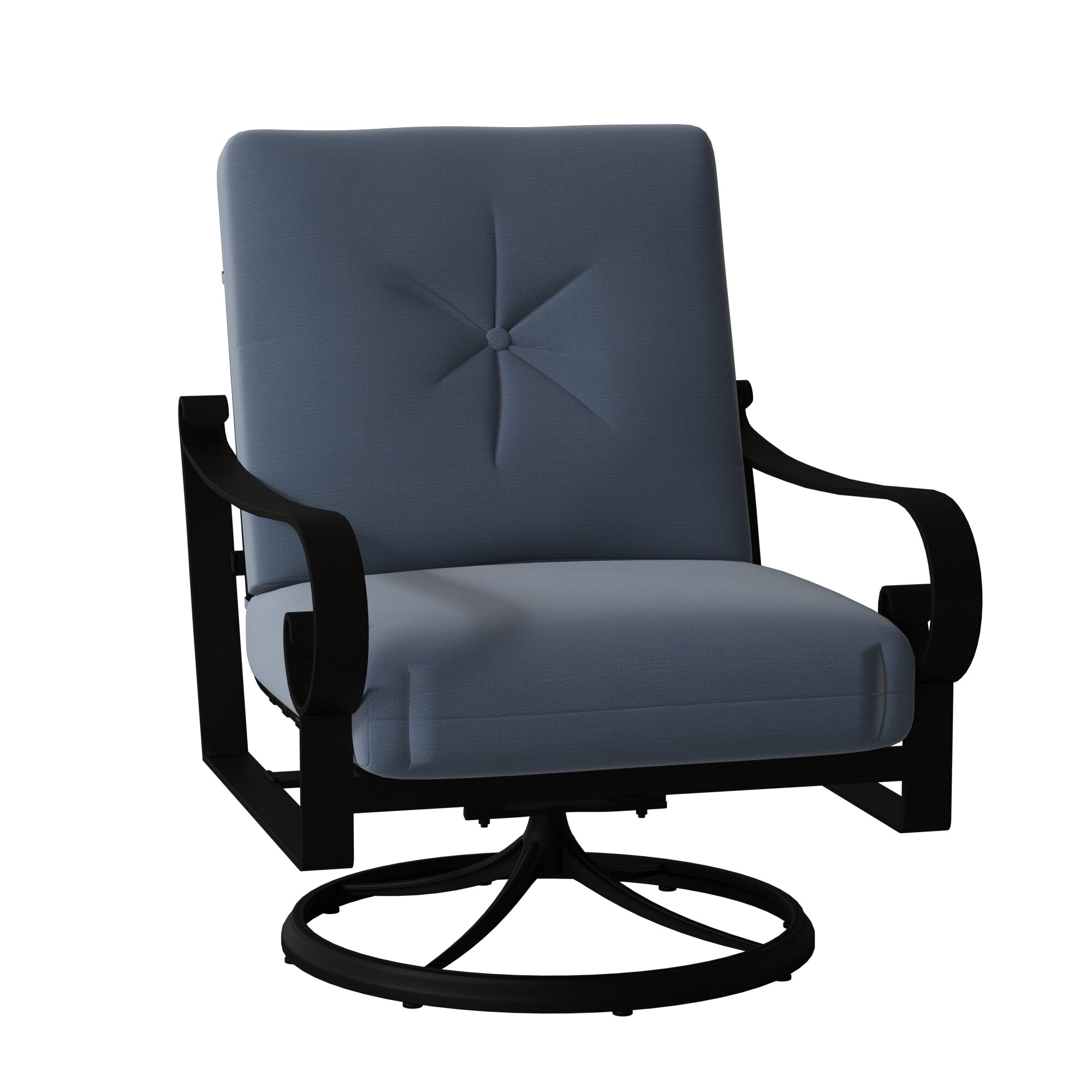Picture of: Belden Big Man S Swivel Rocking Patio Chair Birch Lane