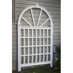 New England Arbors Eden Vienna Vinyl Arched Lattice Panel Trellis