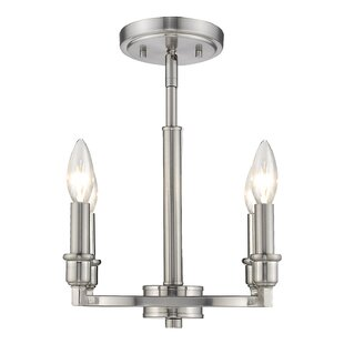Goggin 4-Light Semi Flush Moun..