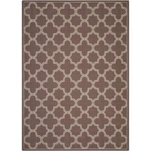 Sun and Shade Indoor/Outdoor Chocolate Area Rug