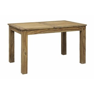 Allegro Extendable Solid Wood Dining Table Mistana