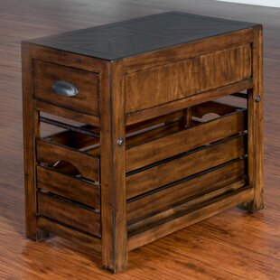 Wilfried Rectangular End Table with Storage
