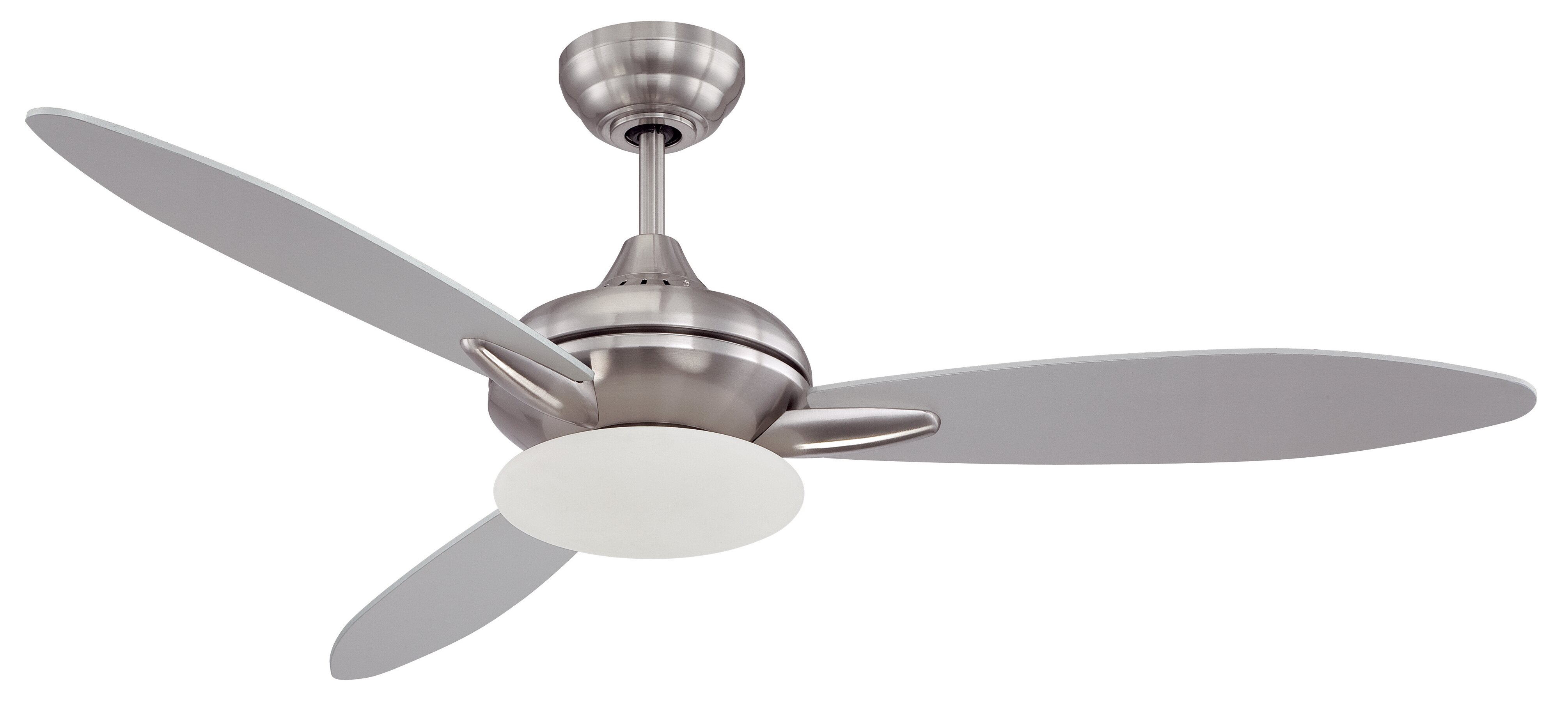 """Latitude Run 52"""" Rahil 3 Blade LED Ceiling Fan with Remote"""