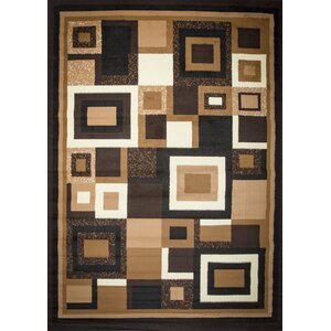 Enedina Quadrilateral Brown/Black/Beige Area Rug