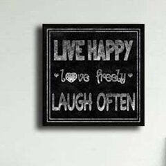 Ptm Live Happy Laugh Often Giclee Framed Textual Art Wayfair