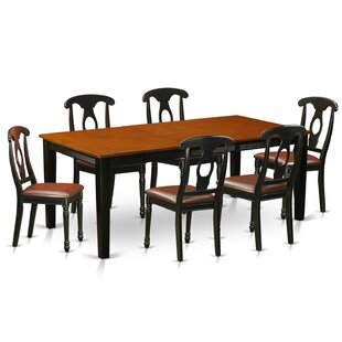 Pilger Modern 7 Piece Wood Dining Set August Grove