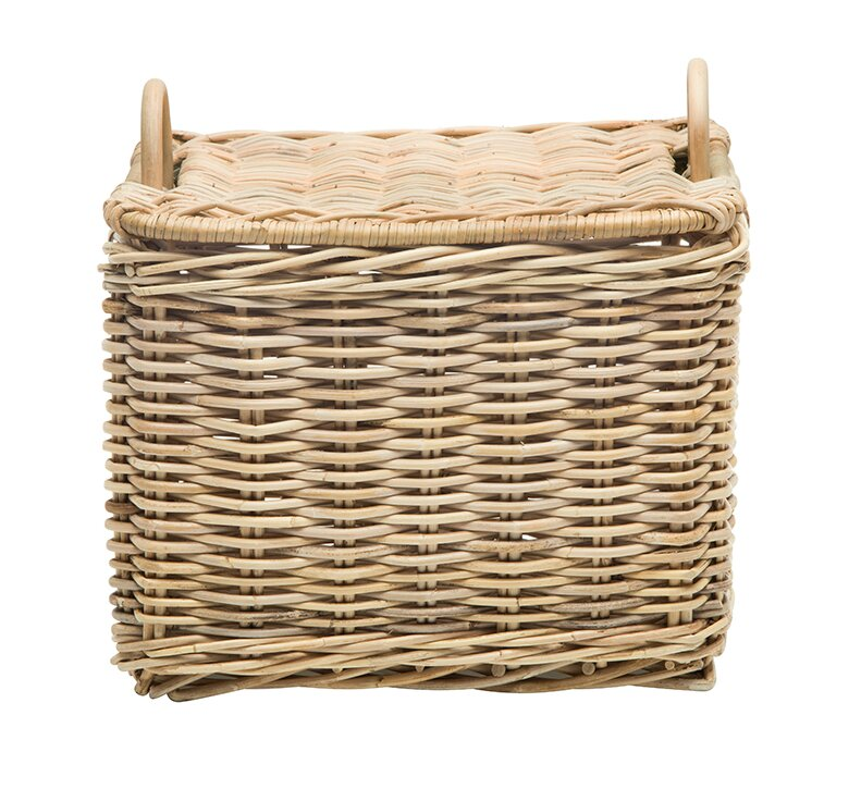 French country baskets at a reasonable price are hard to locate, so check out this Rectangular Rattan Storage Basket! It will work in the toy room, bathroom, kitchen, living room, bedroom and anywhere you want to hide things behind a pretty woven piece of durable decor!