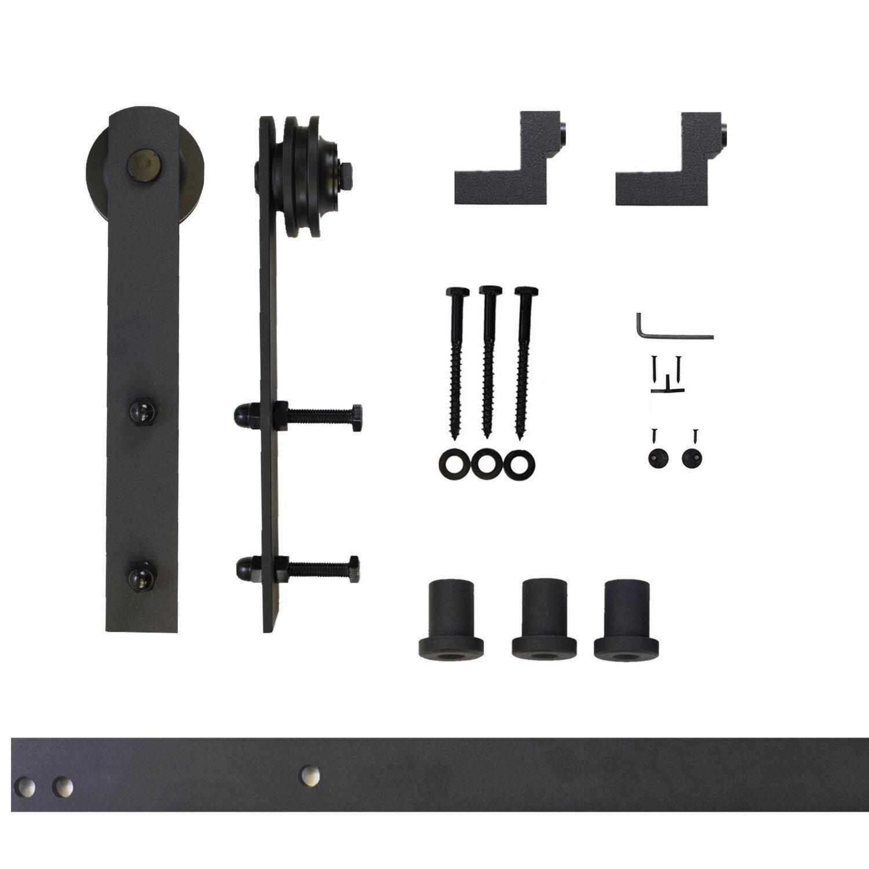 Coulisse Porte De Grange ensemble de quincaillerie de porte de grange à rail simple droit design  standard