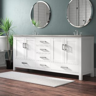 Best Reviews Sheffield 80 Double Bathroom Vanity Base Only By Wyndham Collection