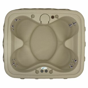 AquaRest Spas Premium 400 4-Person Plug and Play with 20 Stainless Jets, Heater, Ozone and LED Waterfall