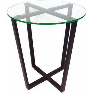 Affordable Metro Glass End Table by Mango Steam