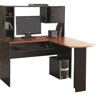 Hudson Yards L-Shape Computer Desk with Hutch