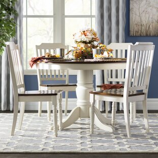 Whiteland 5 Piece Dining Set Three Posts