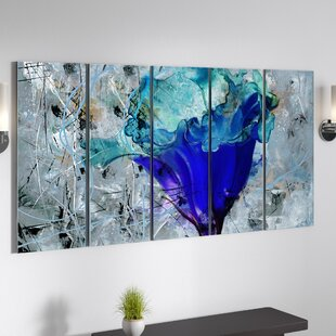 Painted Petals Lx Graphic Art Multi Piece Image On Canvas