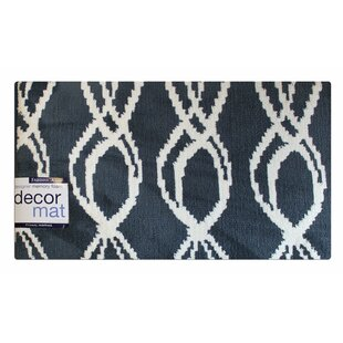 Turbulence Gray/White Helix Memory Foam Bath Rug