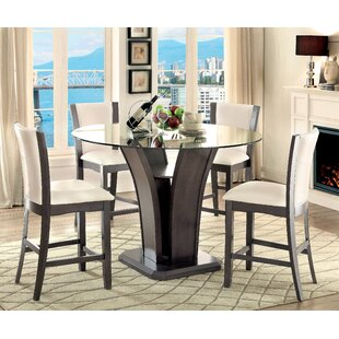Leets 5 Piece Pub Table Set Latitude Run