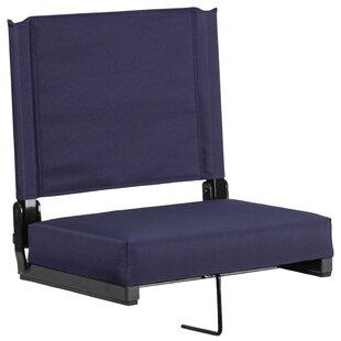 Aubine Folding Stadium Seat with Cushion by Freeport Park