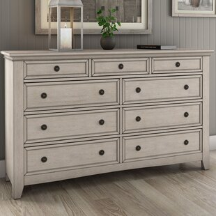 Best Woodside 9 Drawer Dresser by Three Posts