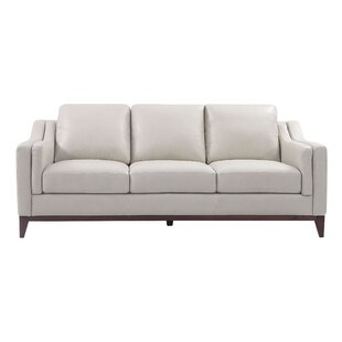 Brayden Studio Casleton Leather Sofa