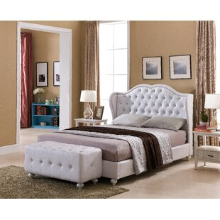 Matz Upholstered Panel Bed by House of Hampton