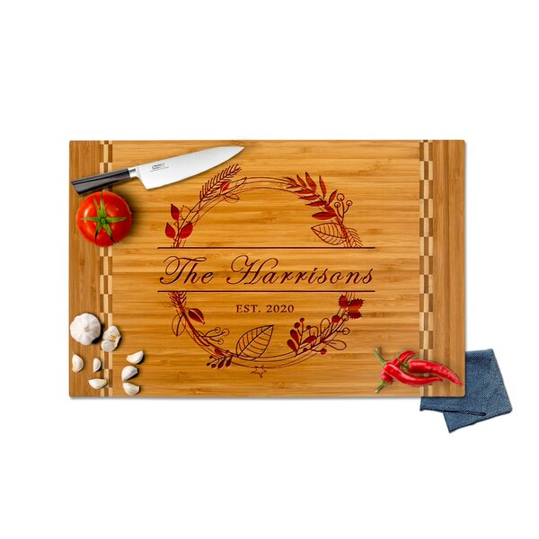 Personalized Treasures Bamboo Engraved Cutting Board Wayfair