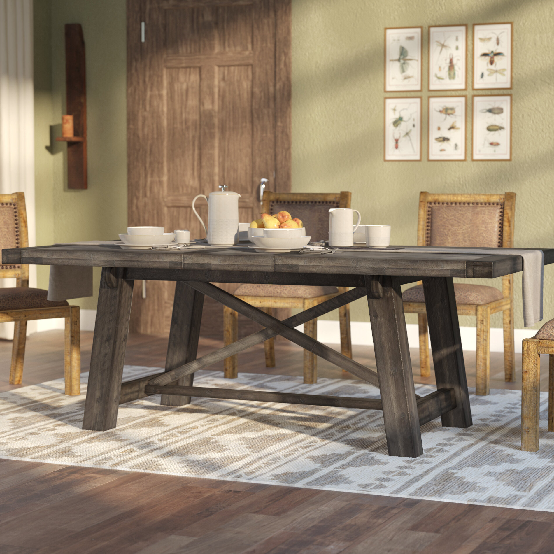 Laurel Foundry Modern Farmhouse Colborne Extendable Dining Table U0026 Reviews  | Wayfair