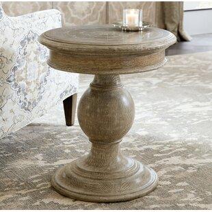Dahlia Round Pedestal End Table