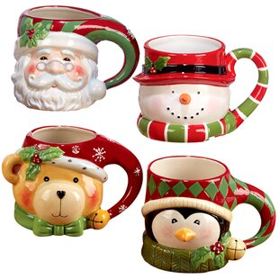 3D Holiday Coffee Mug (Set of 4)