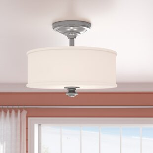 Bowers 2-Light Semi Flush Mount by Beachcrest Home
