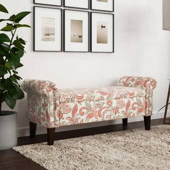 Millwood Pines Skyla Upholstered Bench Wayfair
