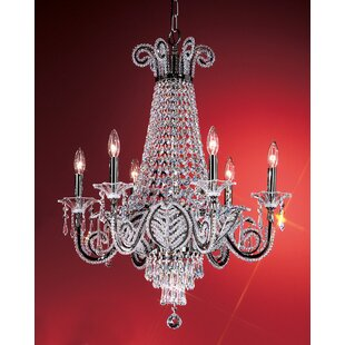 Classic Lighting Beaded Leaf 6-Light Empire Chandelier