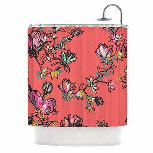 'Magnolia' Single Shower Curtain