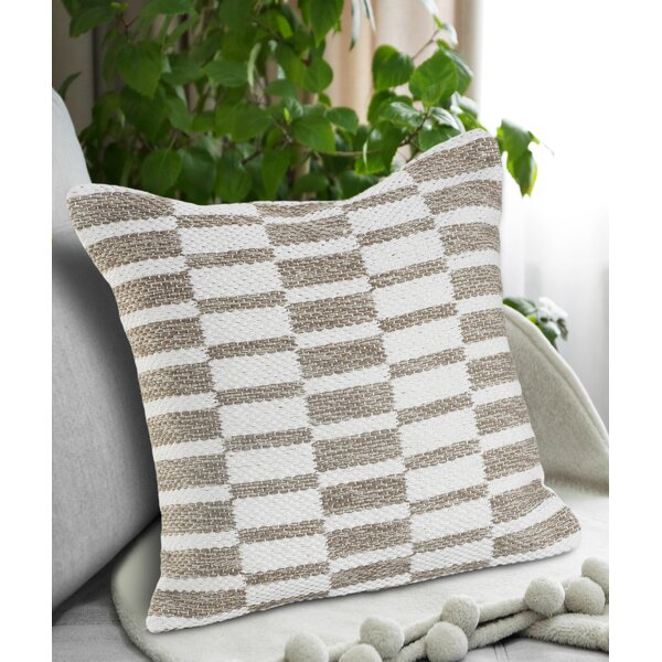 Charlton Home Noblitt Geometric Square Cotton Pillow Cover Insert Reviews Wayfair