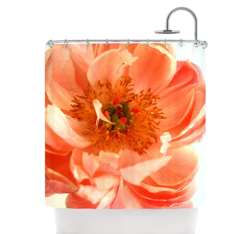 East Urban Home Peony Shower Curtain