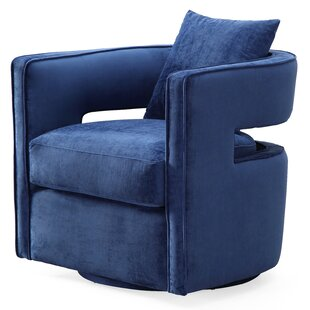 Beahm Swivel Barrel Chair by Ivy Bronx