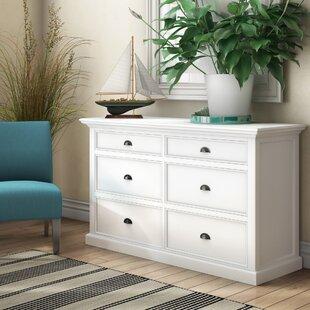 Beachcrest Home Amityville 6 Drawer Double Dresser