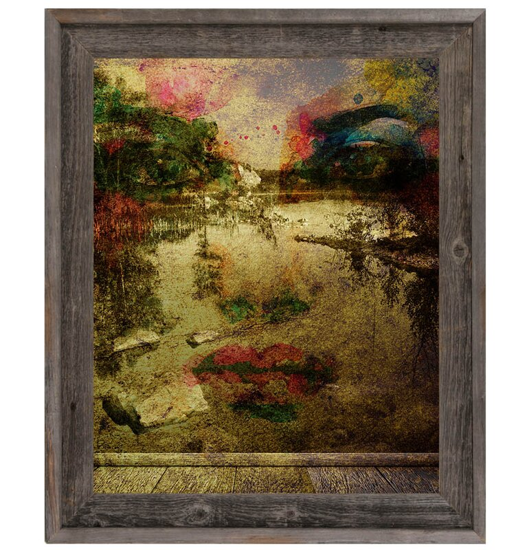 Click Wall Art Longing For The Lake Framed Graphic Art On Canvas Wayfair