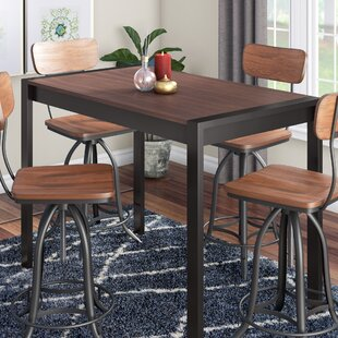 Gary Counter Height Solid Wood Dining Table Wade Logan