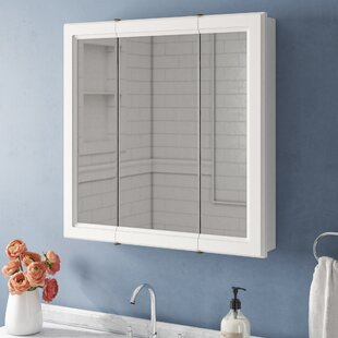 Steubenville Tri-View 30 x 30 Surface Mount Medicine Cabinet By Andover Mills