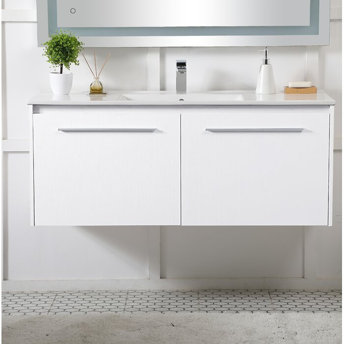 Orren Ellis Laperle floating Vanity 48